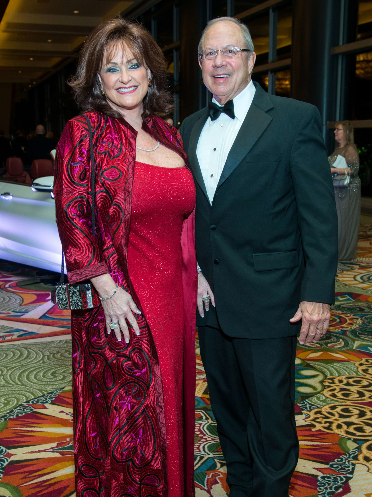 Houston, Women of Distinction fashionable gowns, Feb 2017, Carolyn Faulk, Pat Studdert