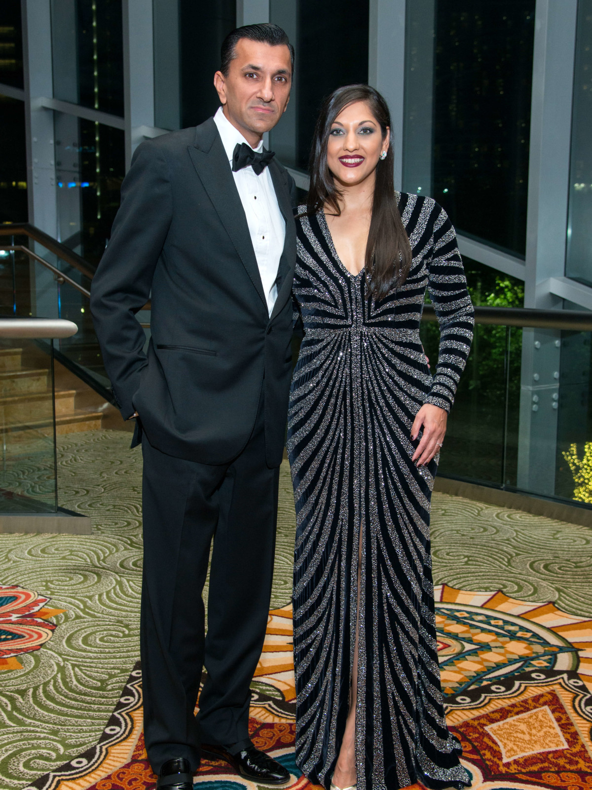 Houston, Women of Distinction fashionable gowns, Feb 2017, Ajay Khurana, Dr. Sippi Khurana