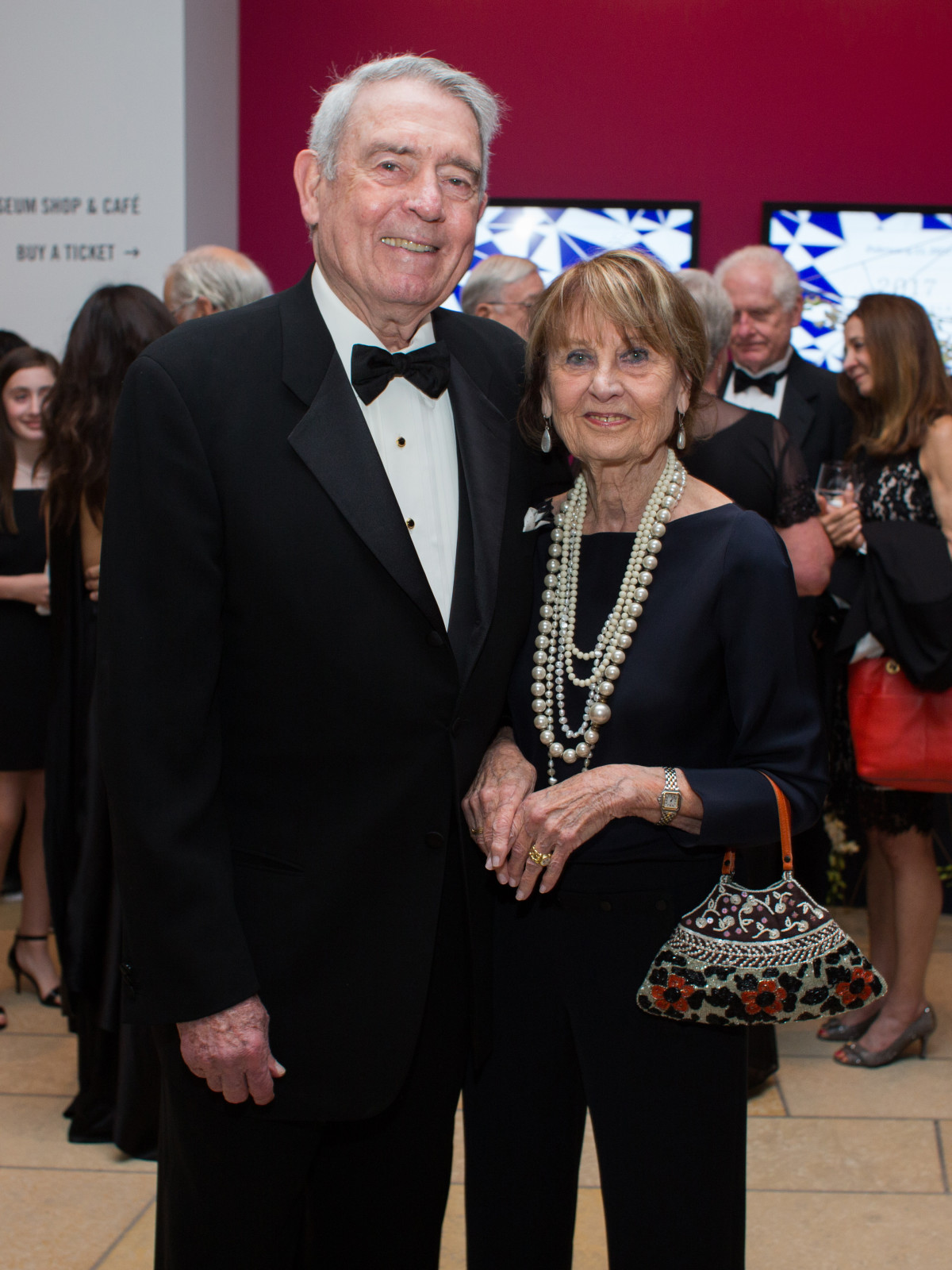Blanton Museum of Art Gala 2017 Dan Rather Jean Rather