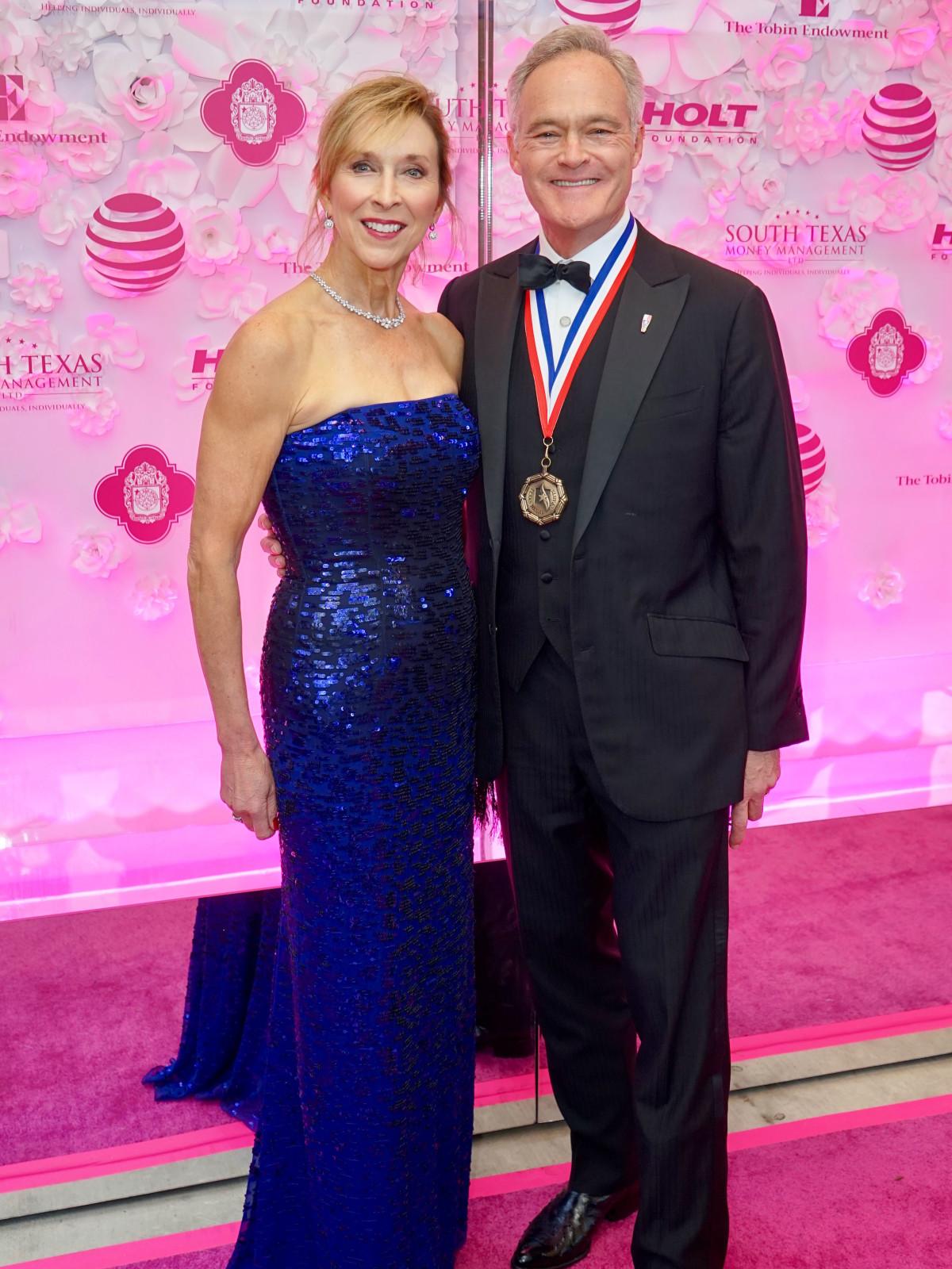 Texas Medal of Arts Awards Jane Pelley Scott Pelley