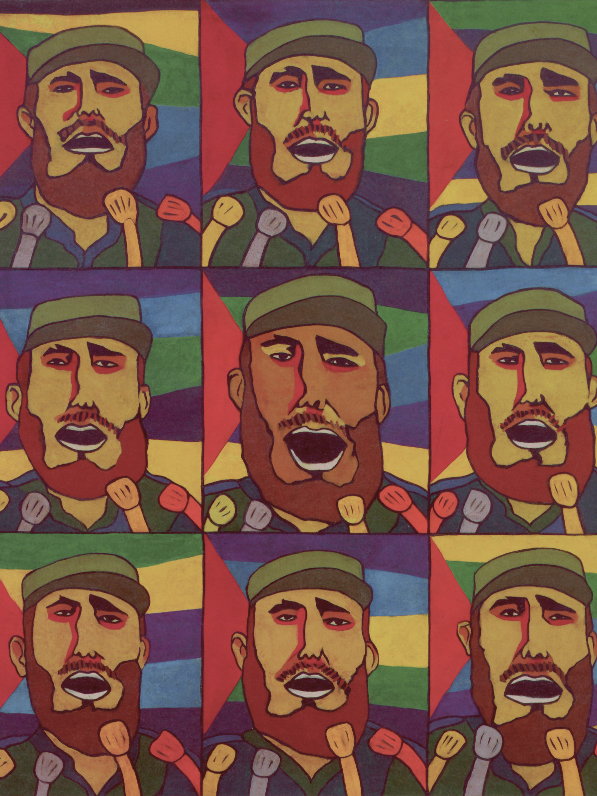 Adiós Utopia: 9 Repeticiones del Fidel con Micrófono (9 Repetitions of Fidel with a Microphone)