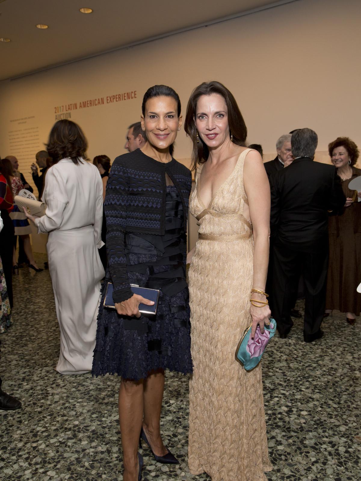 Andrea Fiunczynski, Aliyya Stude at Latin American Gala