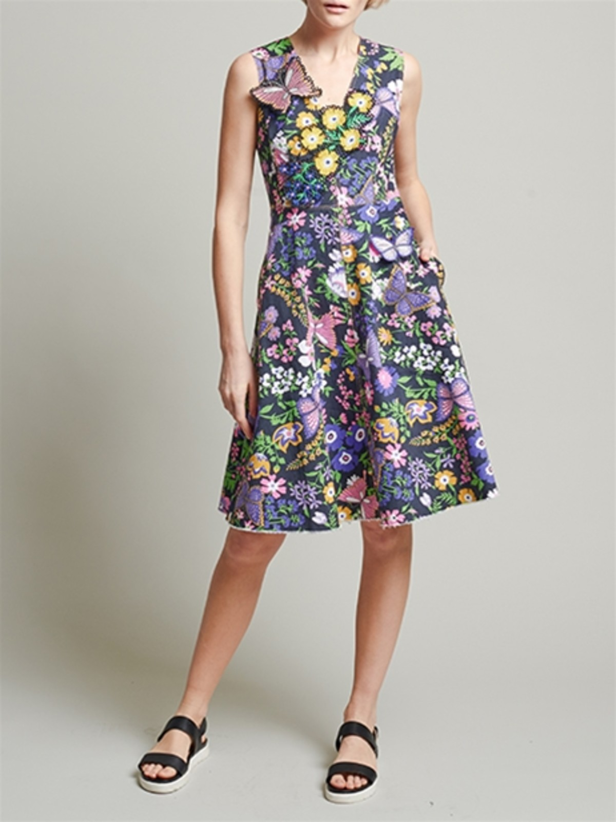 Vivienne Tam butterfly garden dress