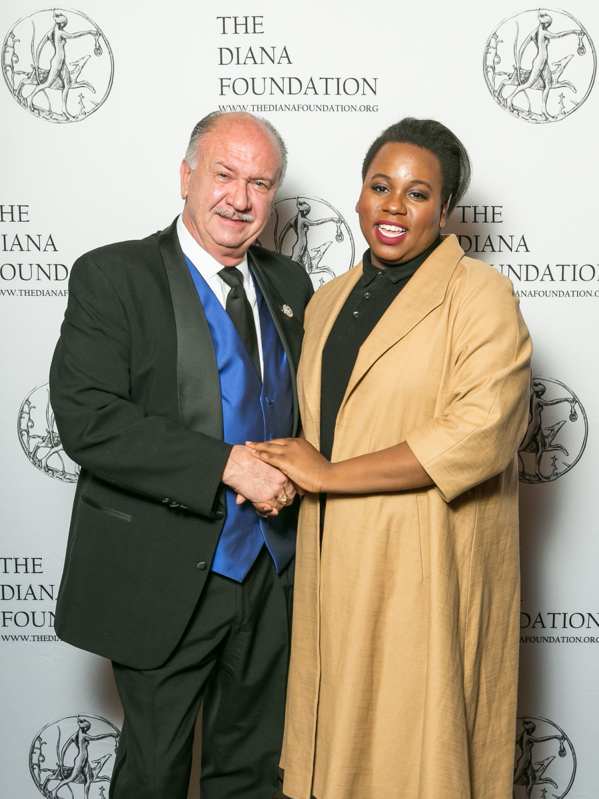 Mark Wade Brown and Alex Newell at Diana Awards