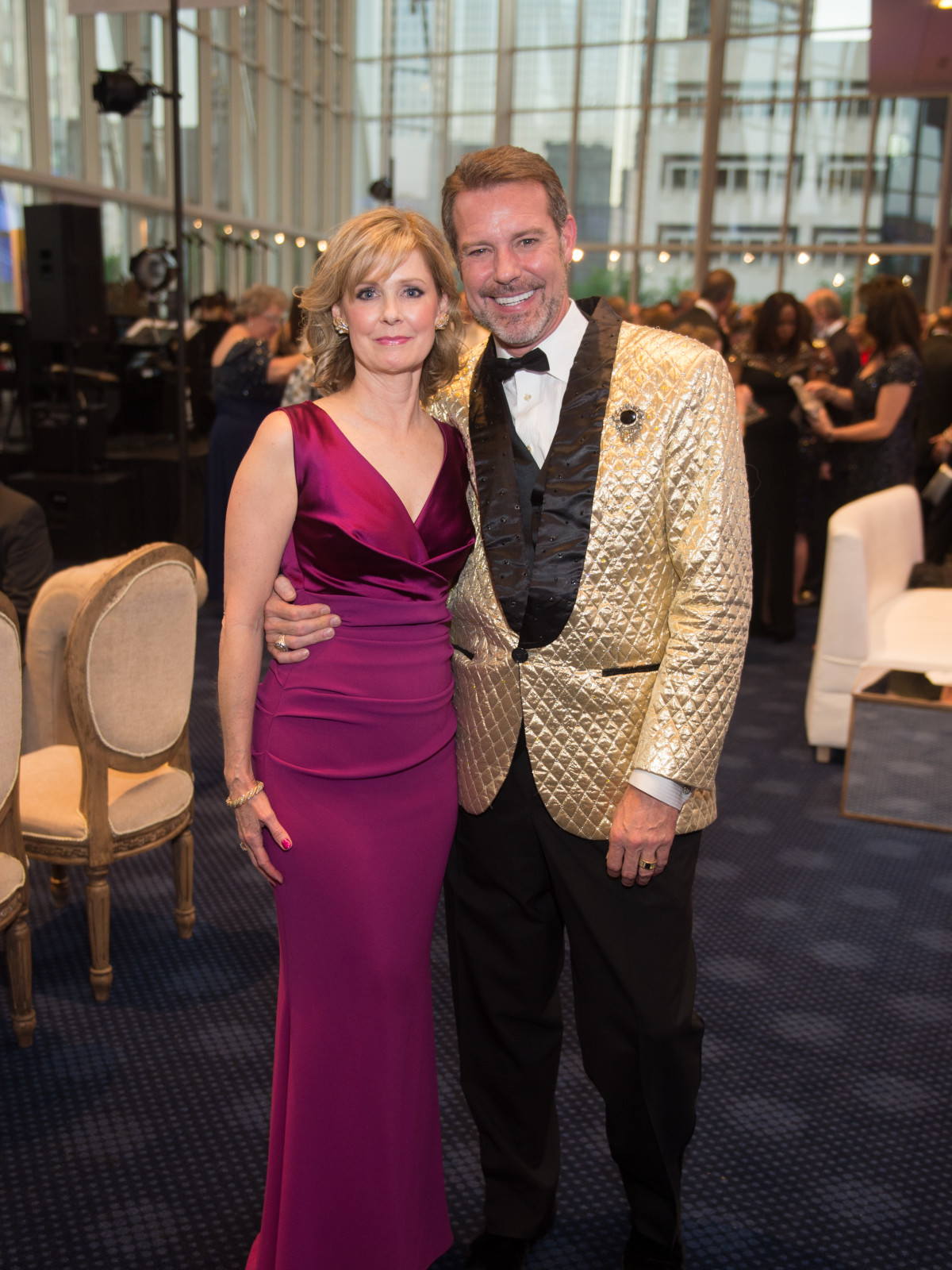 Thecla Harper, Paul Van Atta at 2017 TUTS Dreamgirls Gala