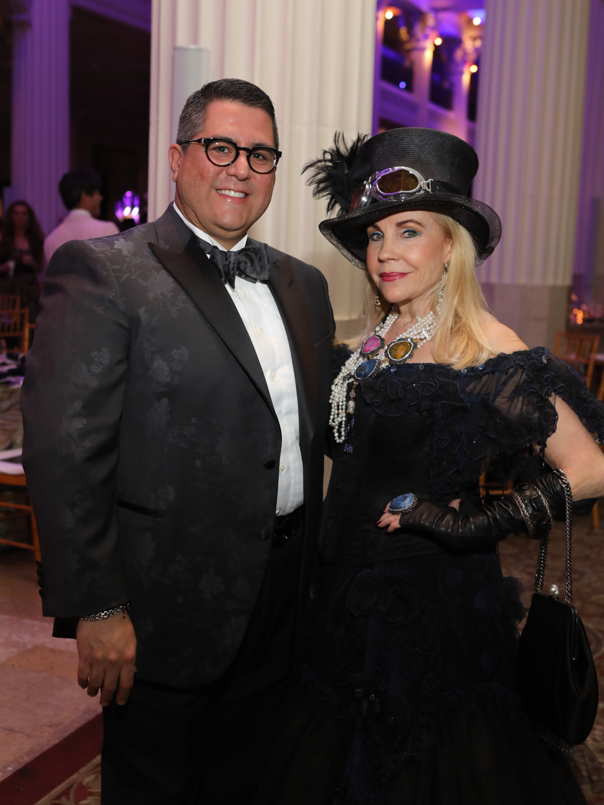 Dr. Roland Maldonado, Carolyn Farb at Stages Gala 2017