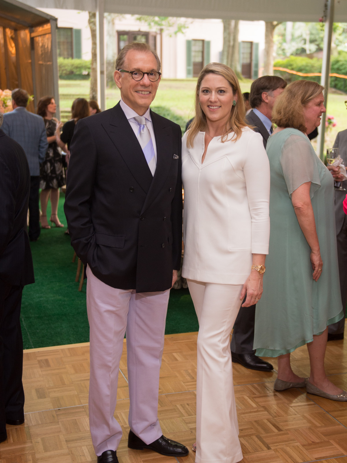 Gary Tinterow, Amy Purvis at Bayou Bend Garden Party 2017