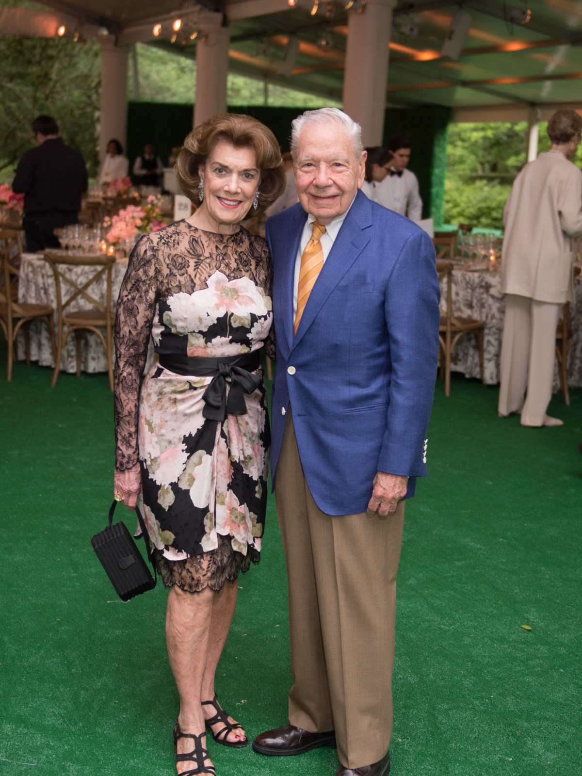 Jeanie Kilroy Wilson Wally Wilson at Bayou Bend Garden Party