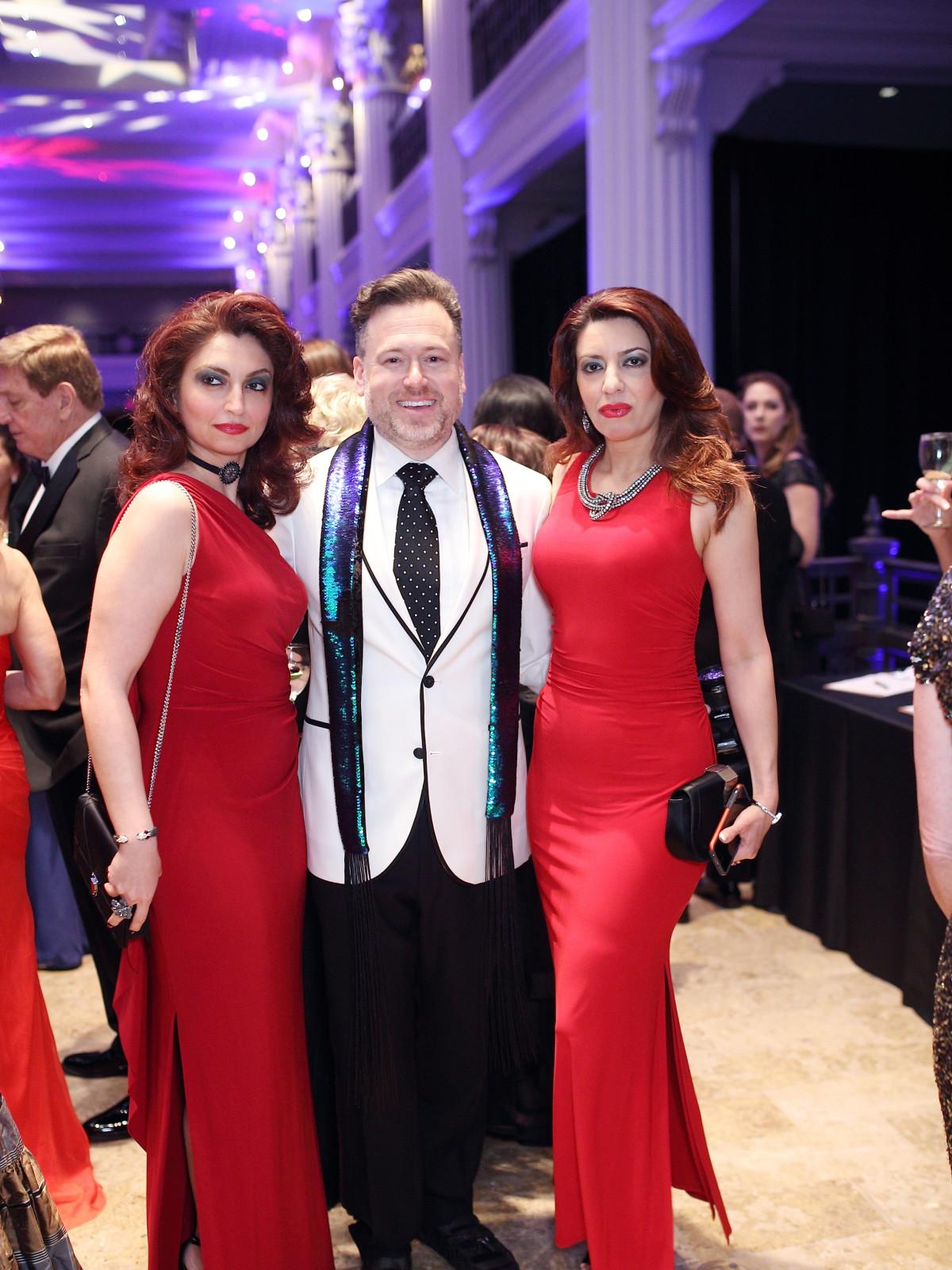 Mahzad Mohajer, Gregg Harrison, Parissa Mohajer at Denali Gala