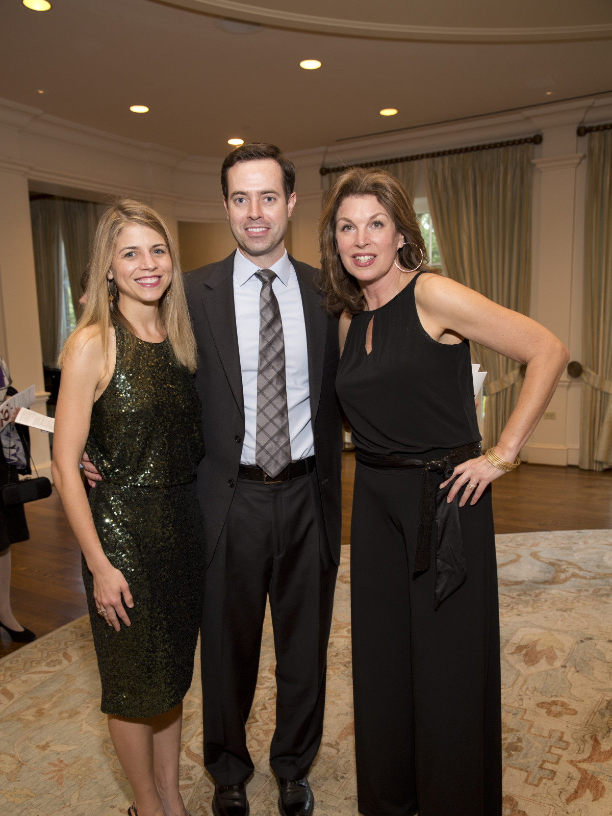 Sheri O'Leary, Brendan O'Leary, Laura Henry at Chinquapin Flashback Gala