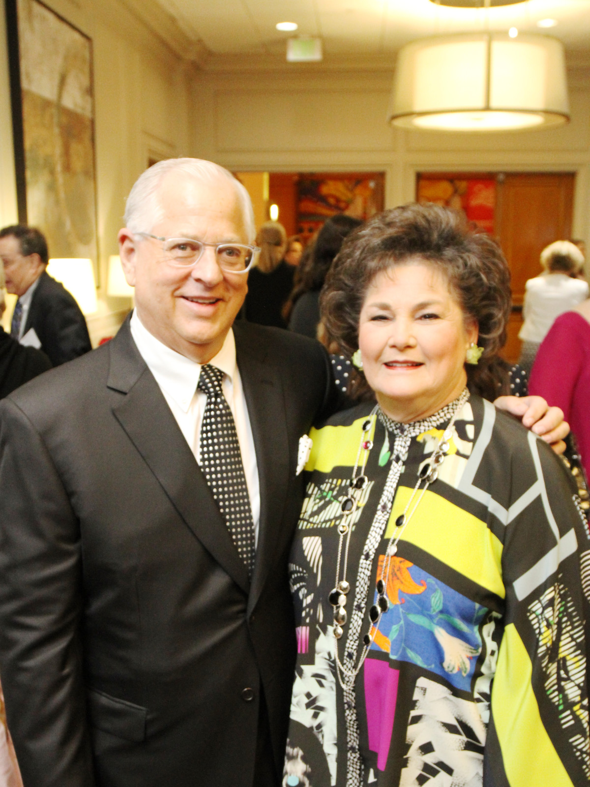 Steve Borick, Barbara Robertson at Menninger Clinic luncheon