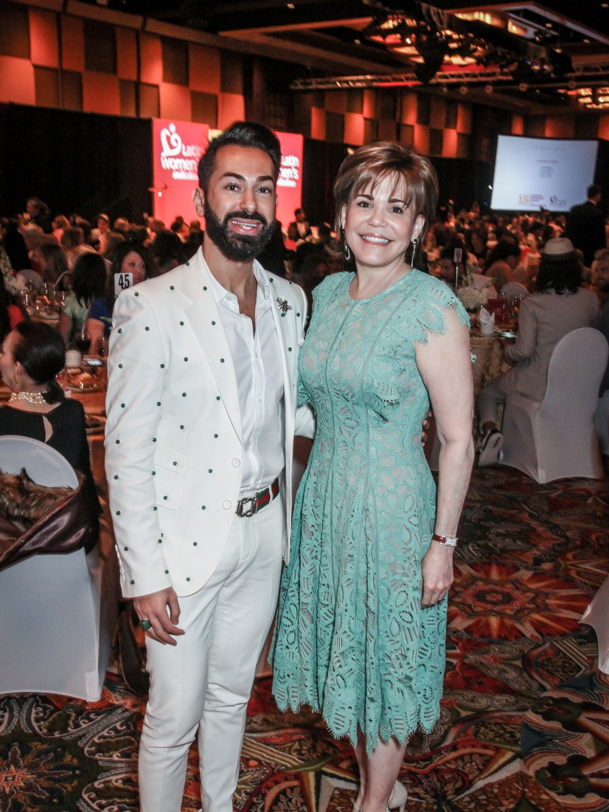 Latin Women's Initiative Luncheon, Fady Armanious and Hallie Vanderhider