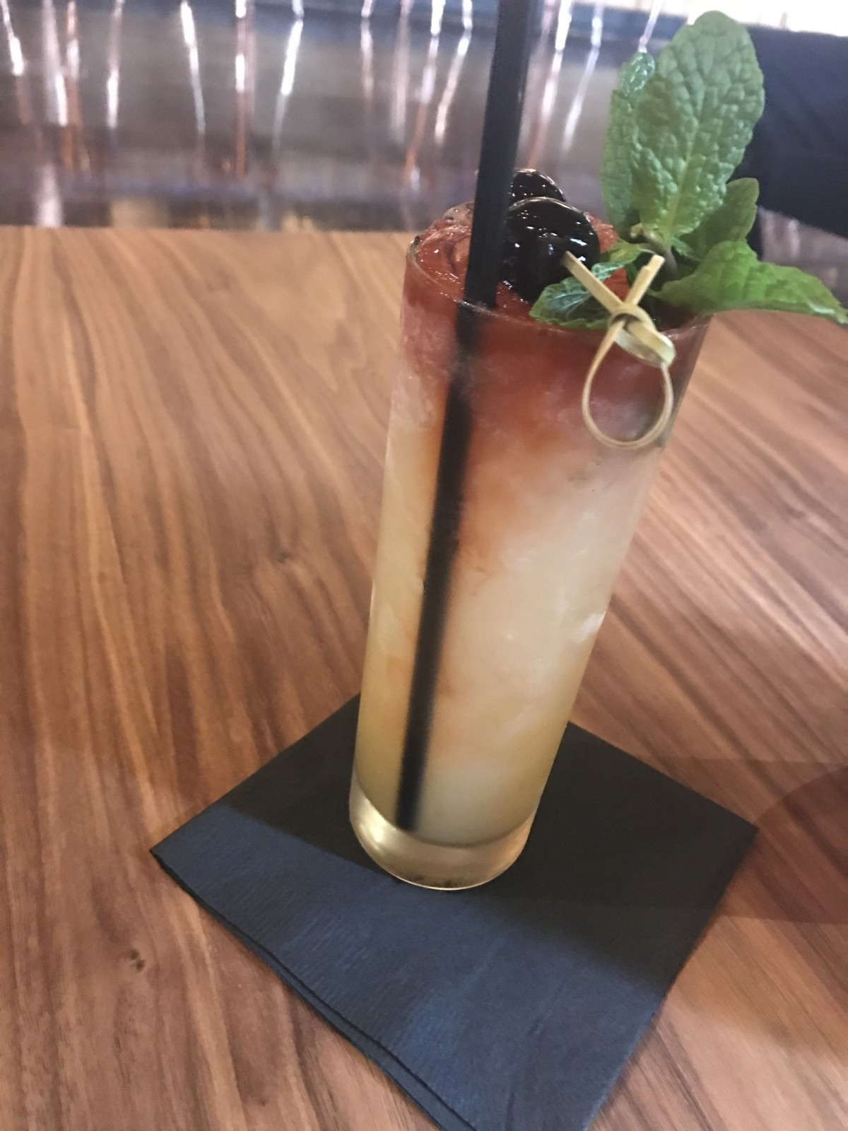 Rose Gold Midtown Main St Swizzle cocktail