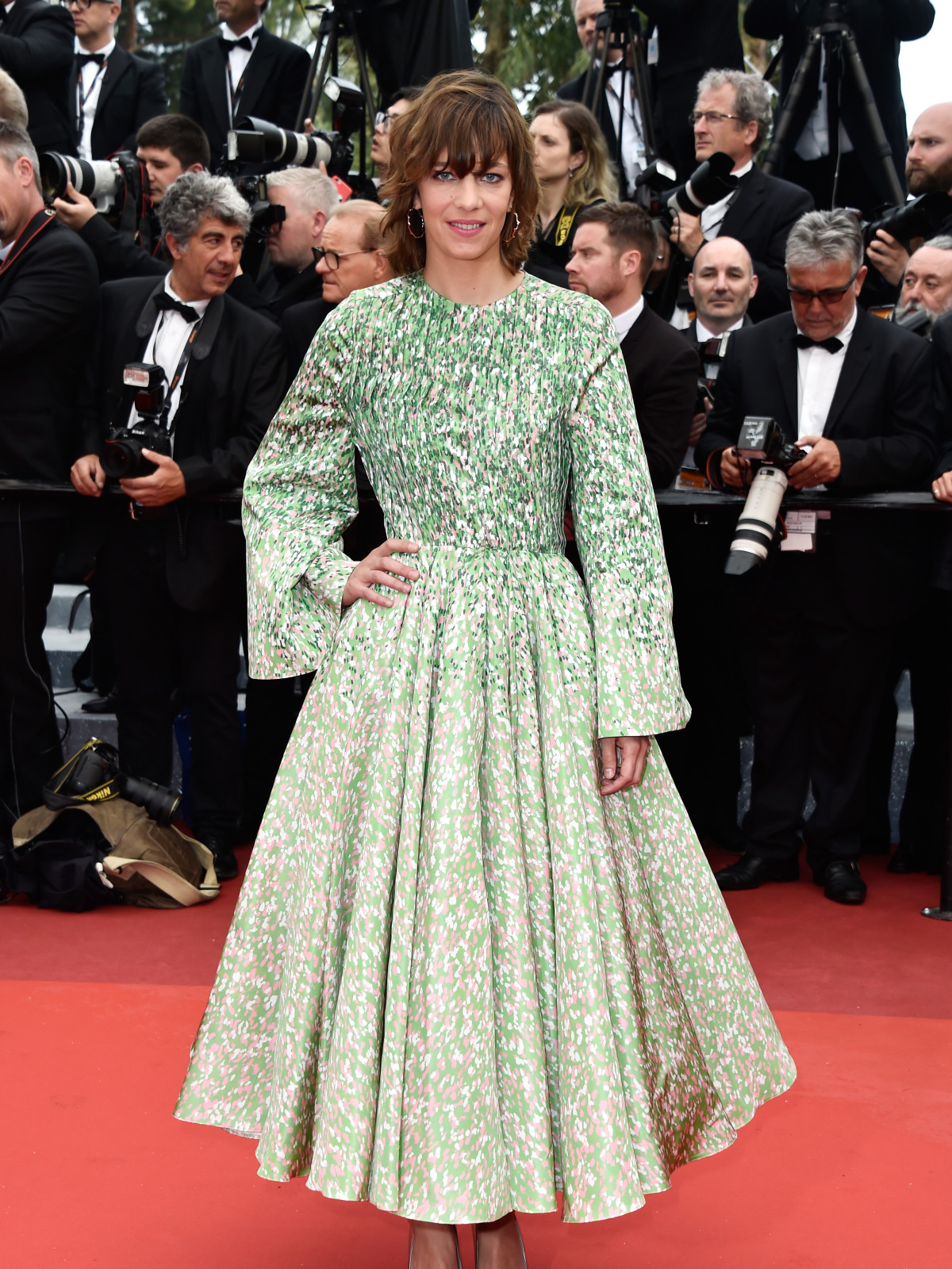 Celine Sallett in Dior at Cannes Film Festival