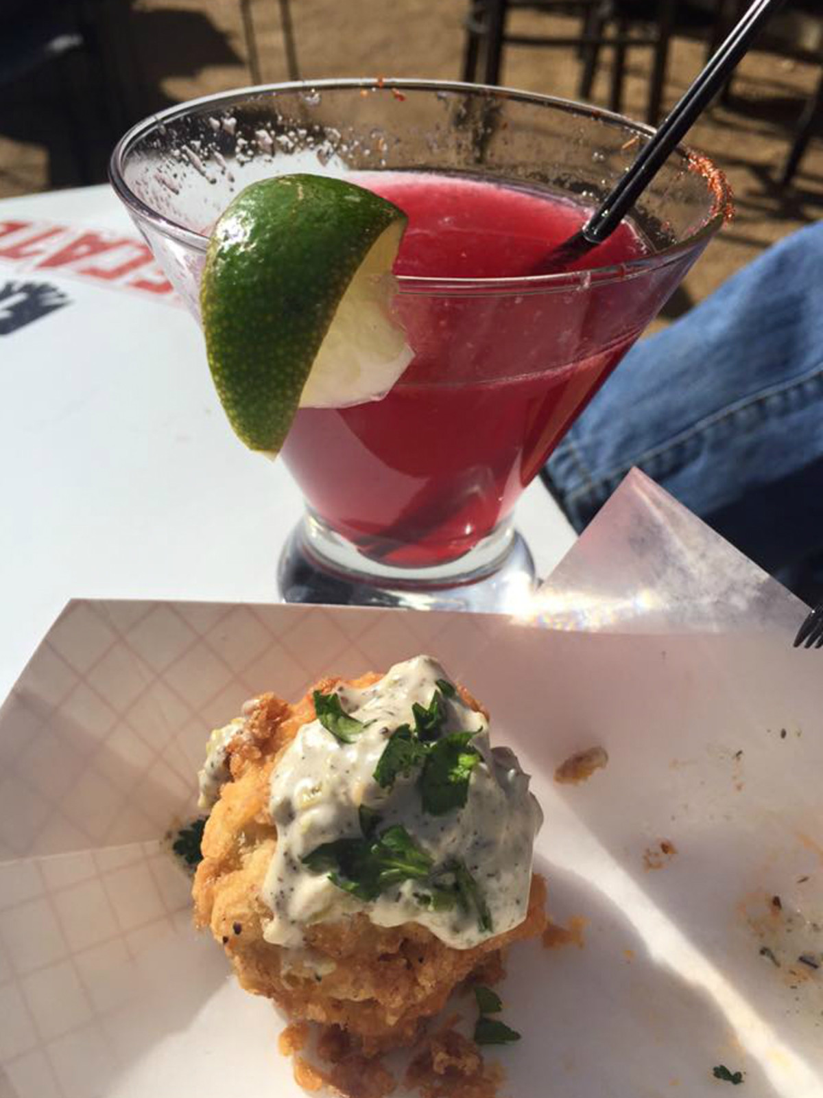Sanchos Cantina y Cocina San Antonio restaurant bar cocktail drink shrimp balls