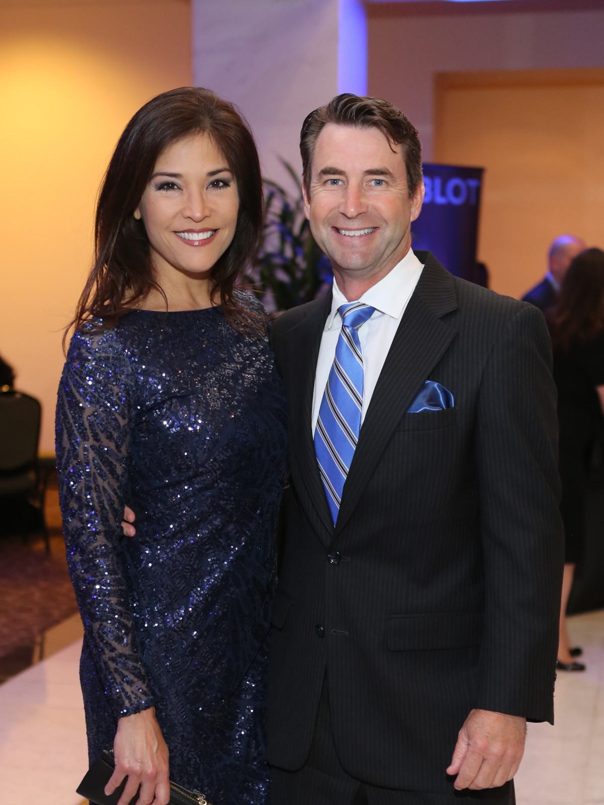 Blue Cure Gala, April 2016, Lisa Foronda, Greg Harper