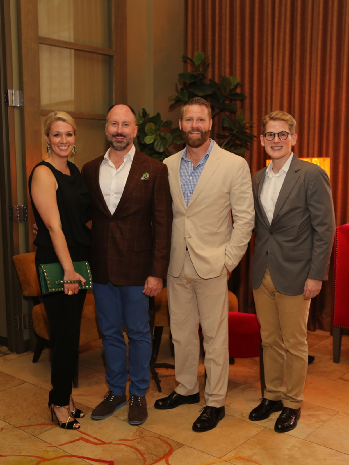 Houston Ballet Barre dinner, April 2016 Christina Stith, Tony Bradfield, Kevin Black , Daniel Irion