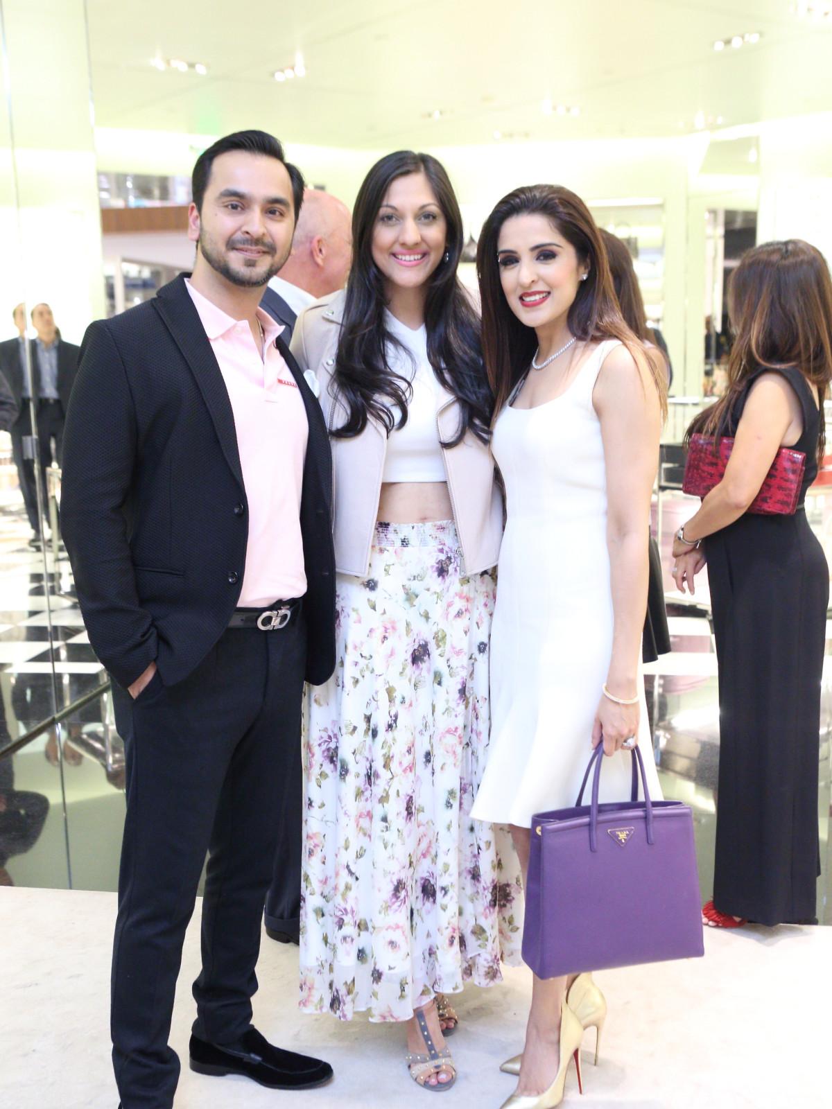 Nick Merchant, Sippi Khurana, Sneha Merchant at APAHA kickoff party at Prada