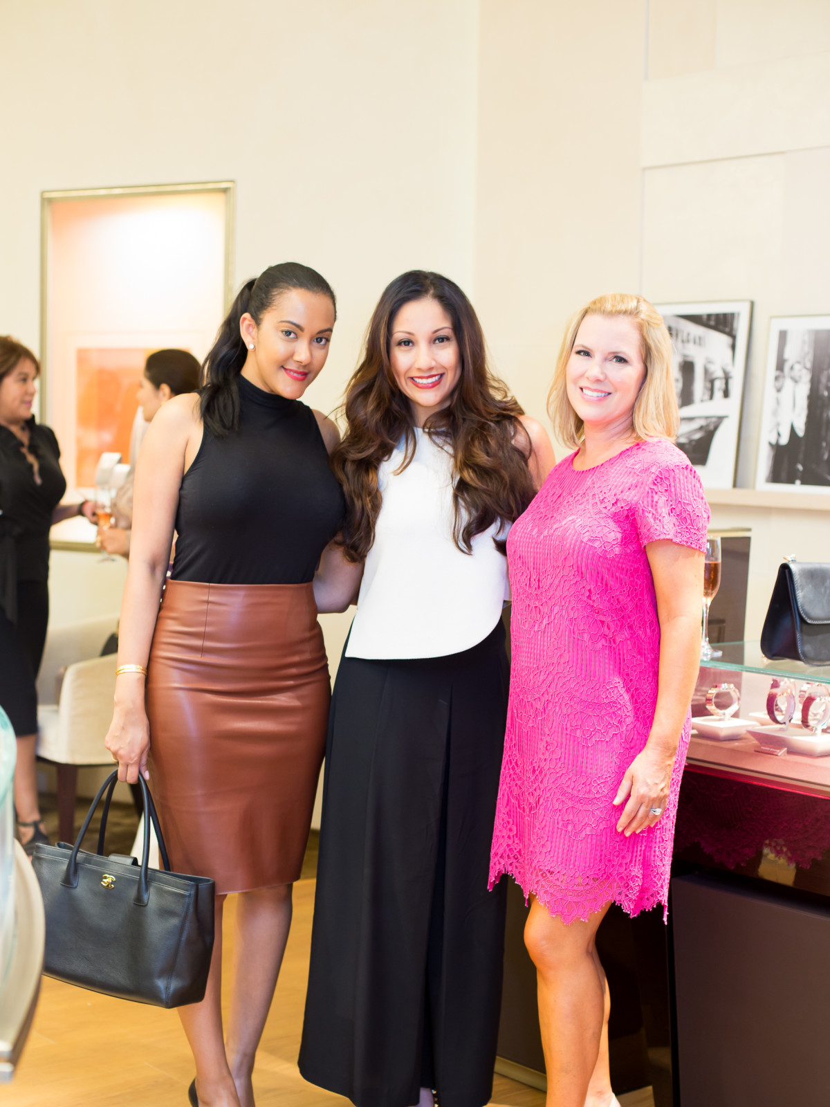 International Mothers' Day at Bulgari, March 2016, Leyci Garces, Nancy Almodovar, Casey Curry