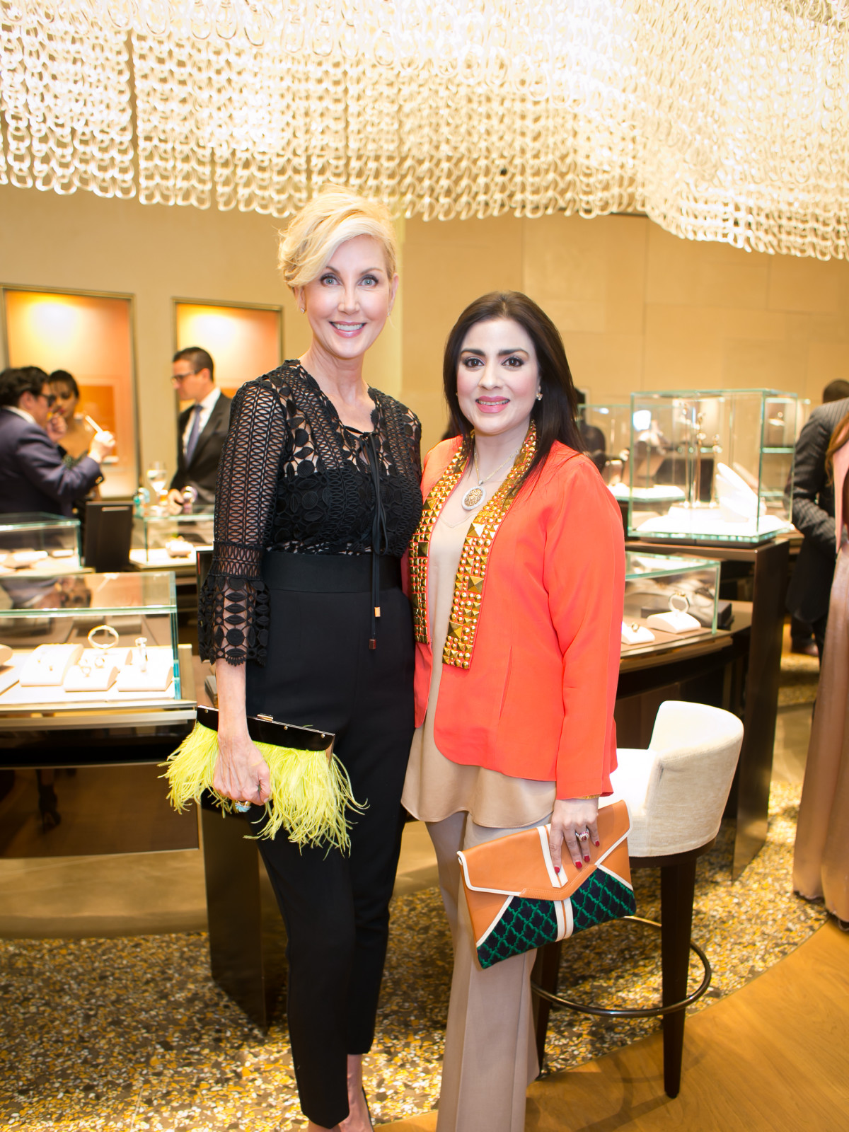 International Mothers' Day at Bulgari, March 2016, Jerri Moore, Maha Rasheed Khan