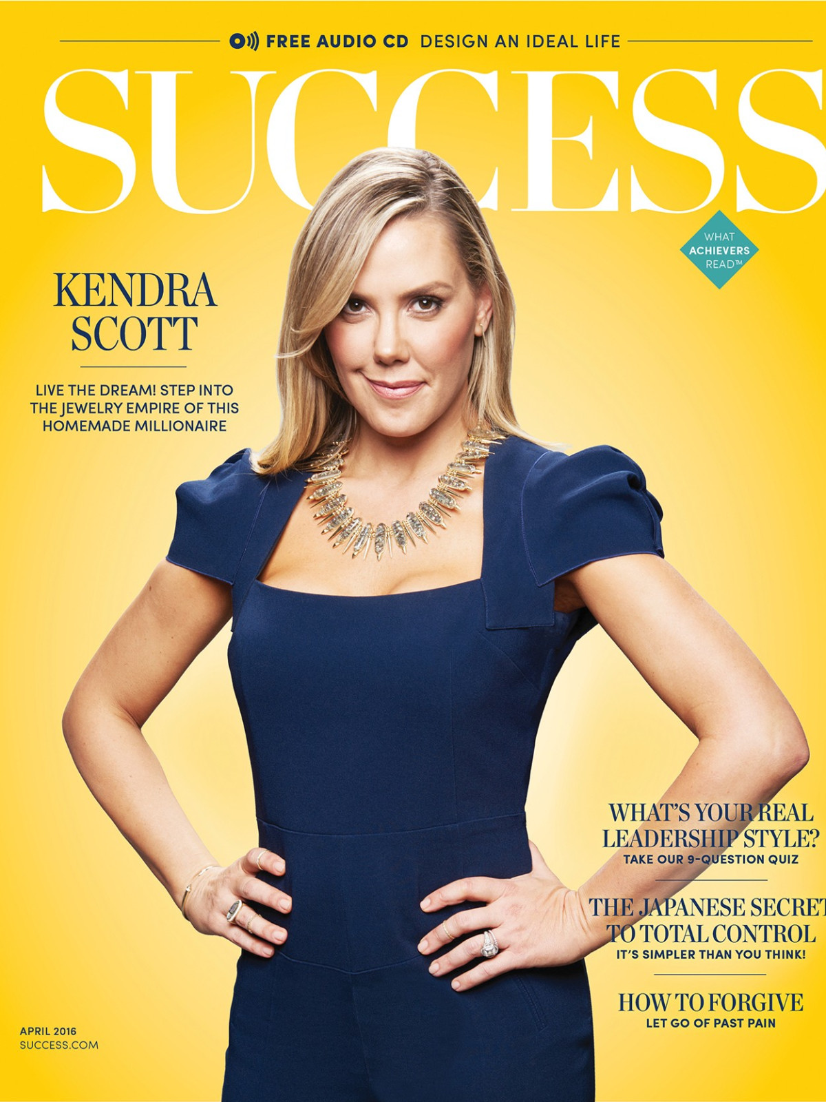 Kendra Scott on cover of Success magazine