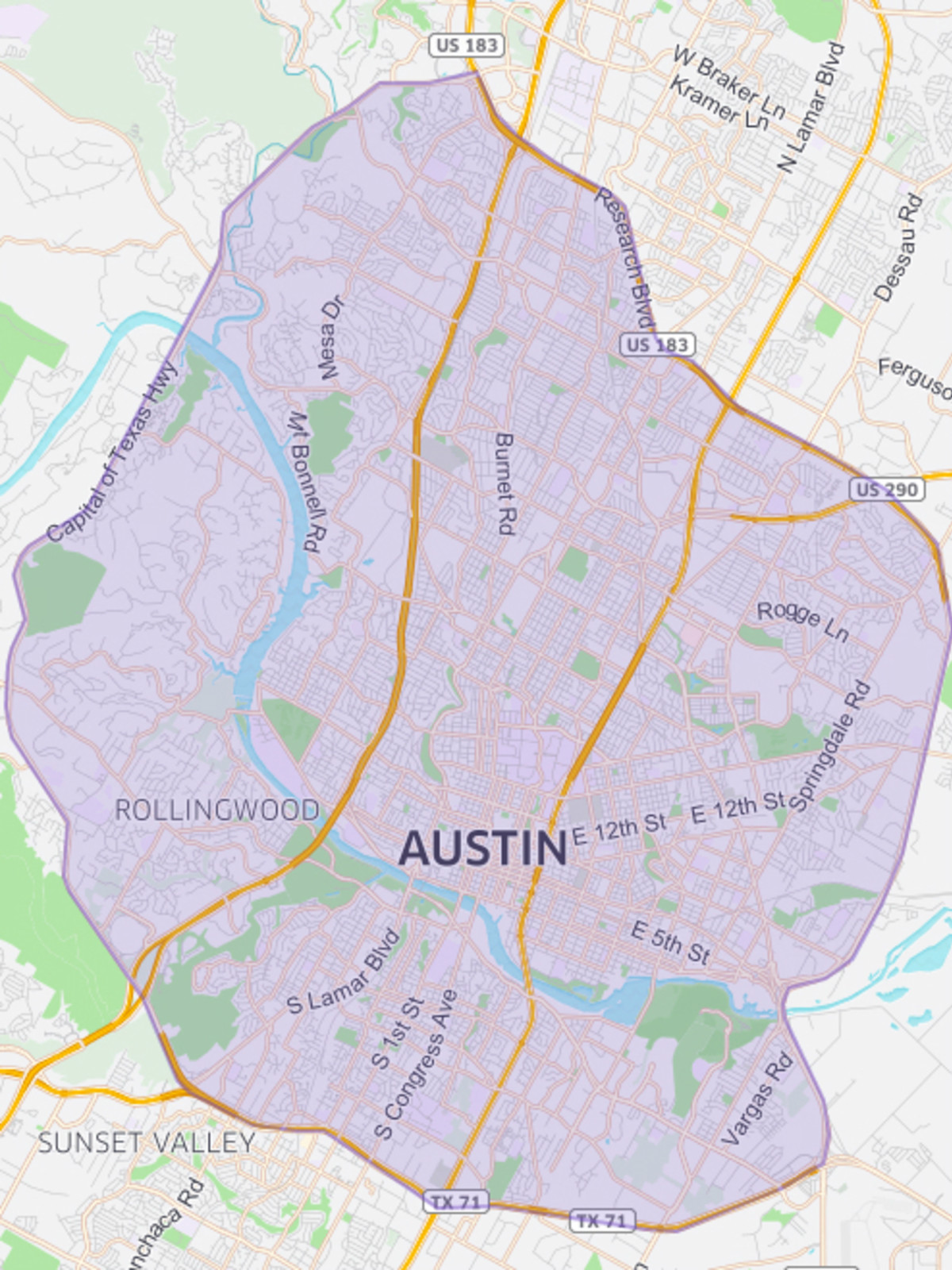 UberEATS app Austin map coverage area delivery zone March 2016