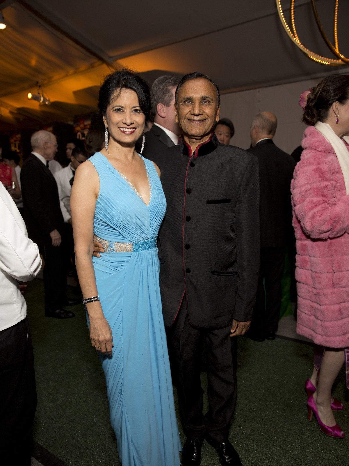 Asia Society Tiger Ball, March 2016, Renu Khator, Suresh Khator