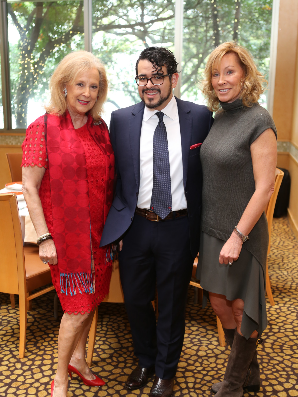 HGO Ball luncheon, March 2016, Mary Ann McKeithan, Mario Gudmundsson, Jackie Whitley