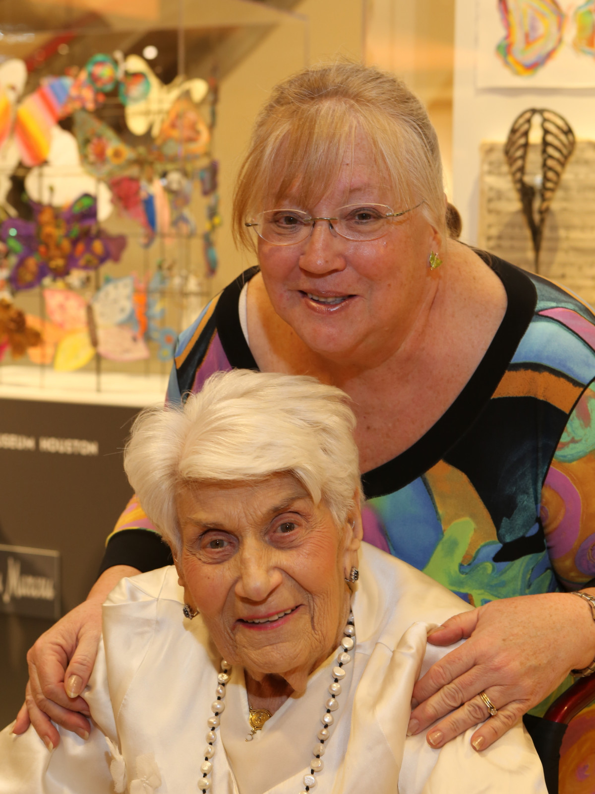 Holocaust Museum Houston Butterfly Project, March 2016, Naomi Warren (Survivor, Board Member), Mary Lee Webeck