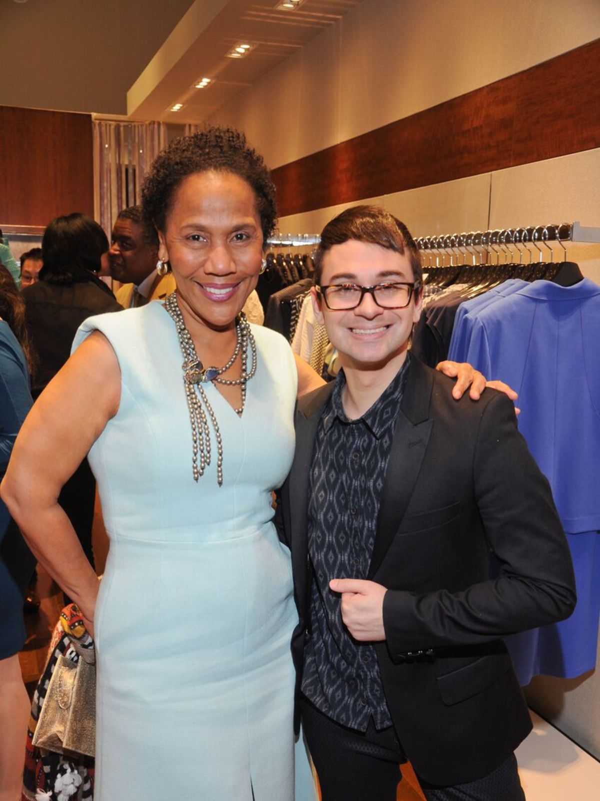 Myrtle Jones, Christian Siriano at Passion for Fashion party at Elizabeth Anthony