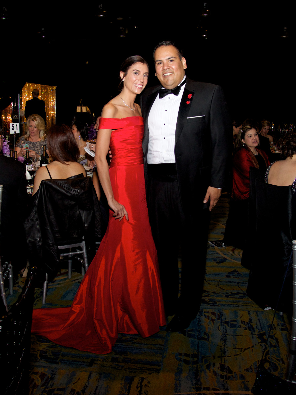 Montgomery County Heart Ball, Feb. 2016, Christen Argueta, David Argueta