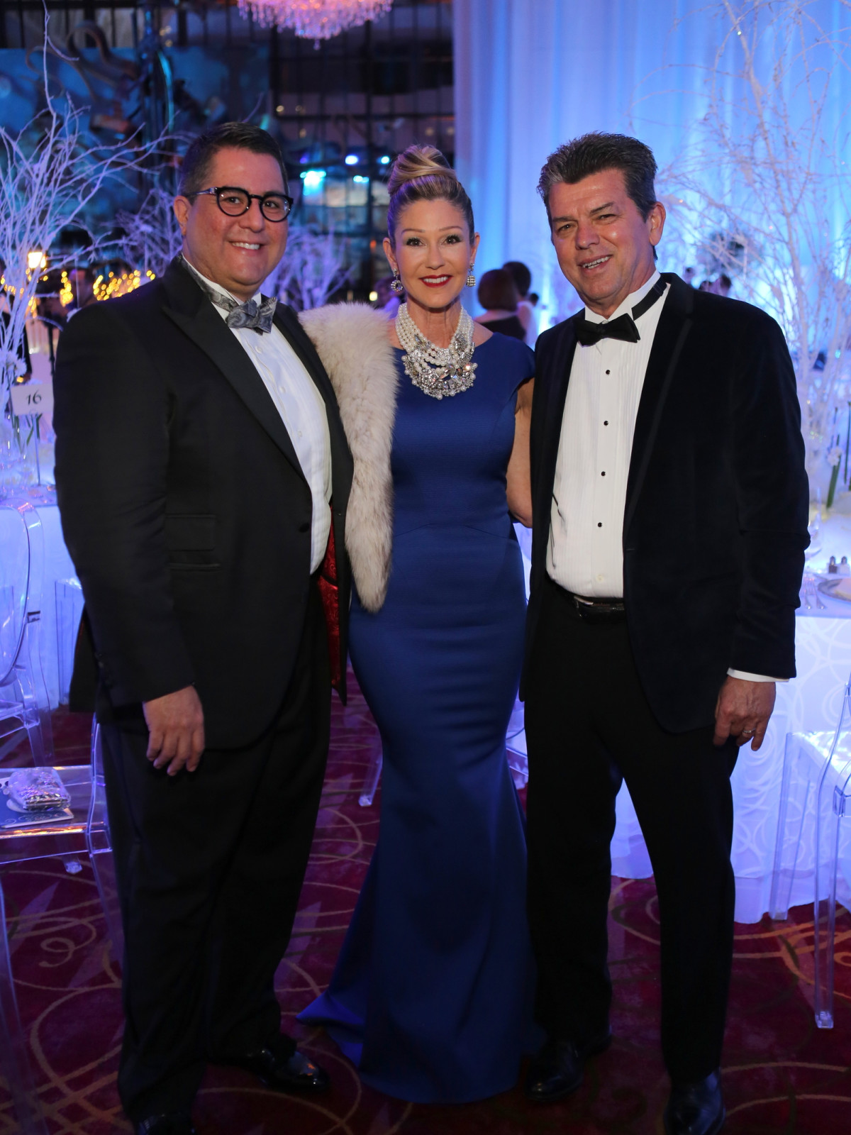 Houston Ballet Ball, Feb. 2016, Dr. Roland Maldonado, Patti Murphy, Don Murphy