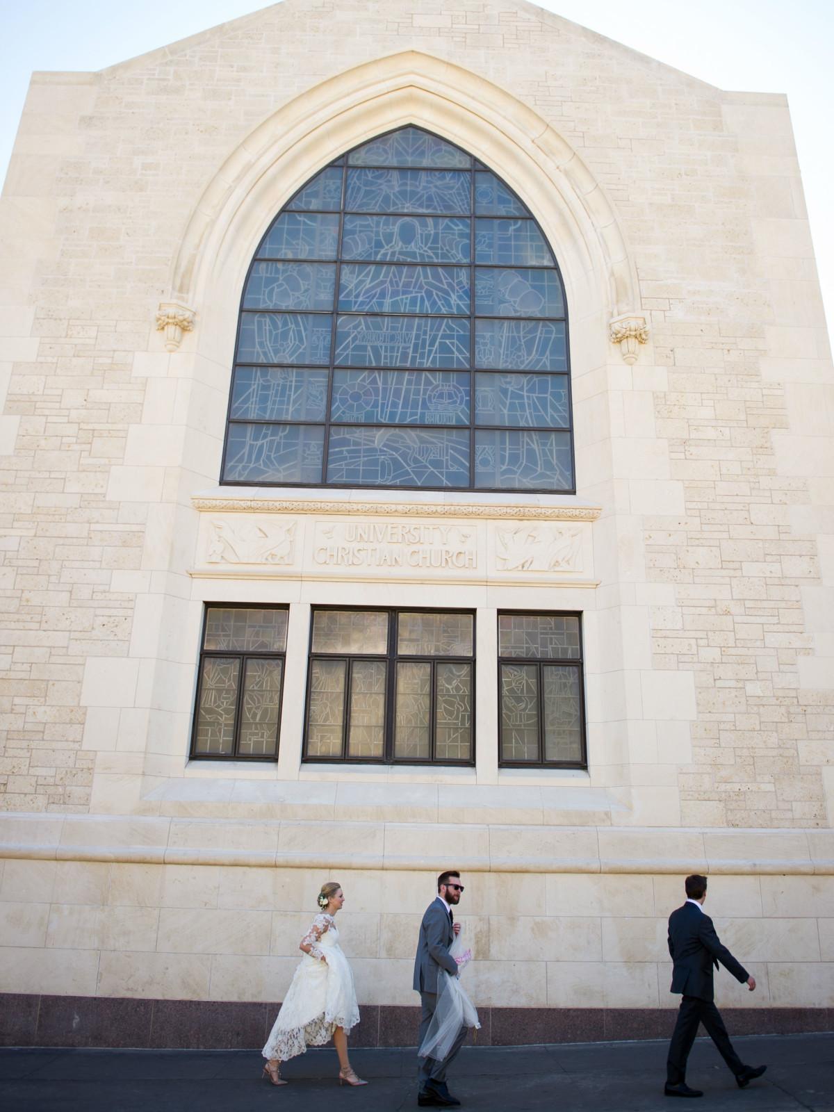 Katie Van Dyk Ben Nelson real wedding-church