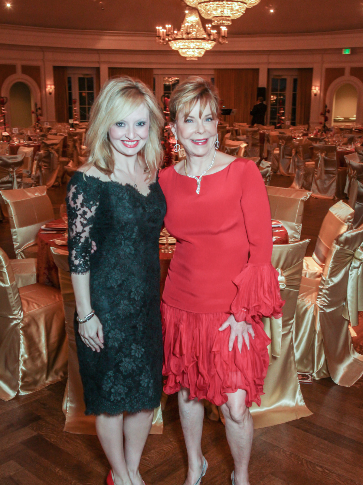 Champagne & Chocolat gala, Feb. 2016, Ashley Petersen, JoAnn Petersen
