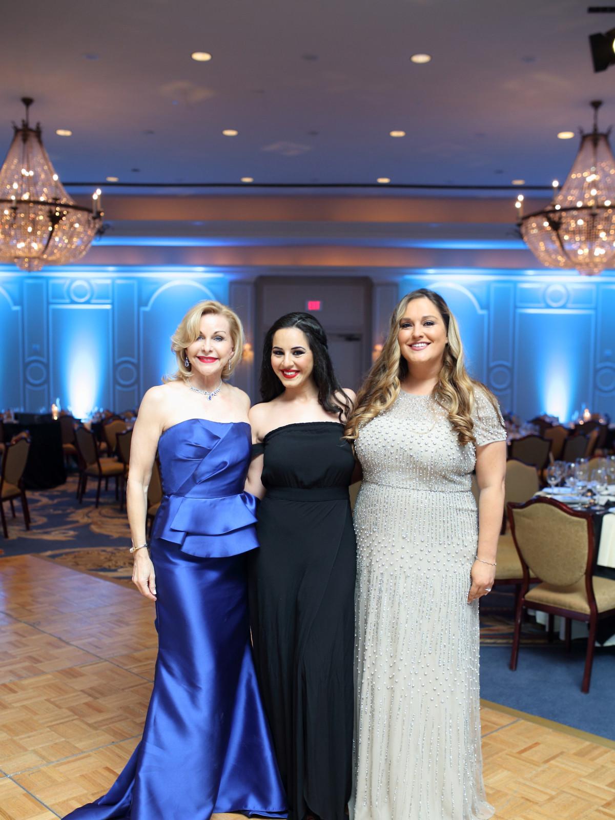 Denali Foundation gala, Feb. 2016, Dana Kervin, Rama Barazi, Courtni Stryker