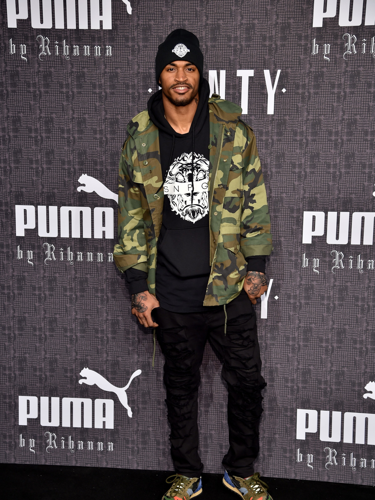 Jaelen Strong at Rihanna Fenty Puma runway show