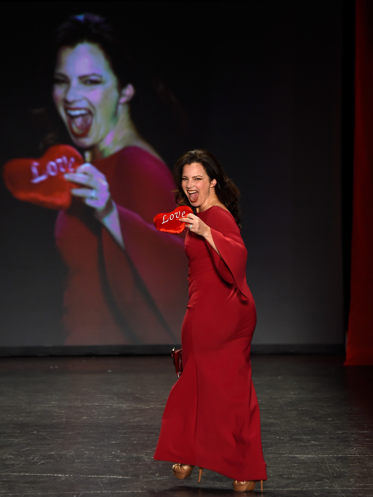 Fran Drescher at American Heart Association's Go Red For Women Red Dress Collection 2016
