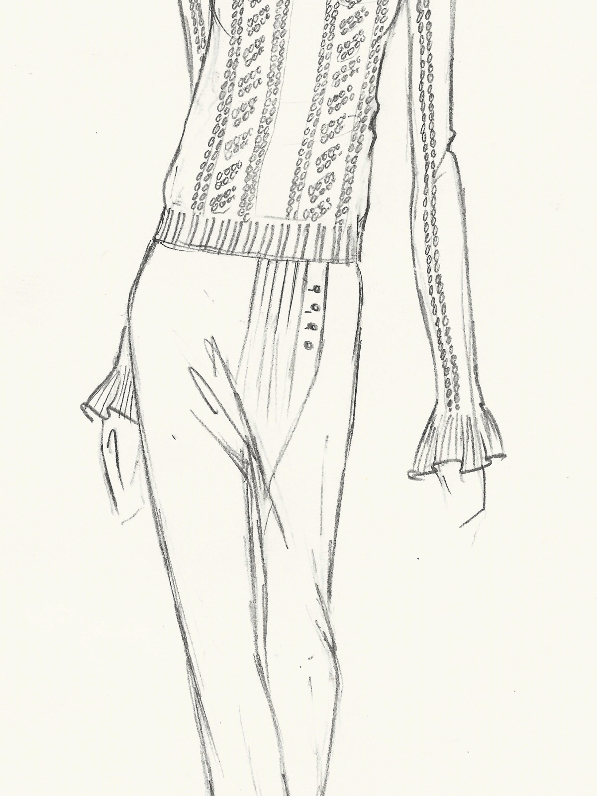 Ulla Johnson sketch fall 2016