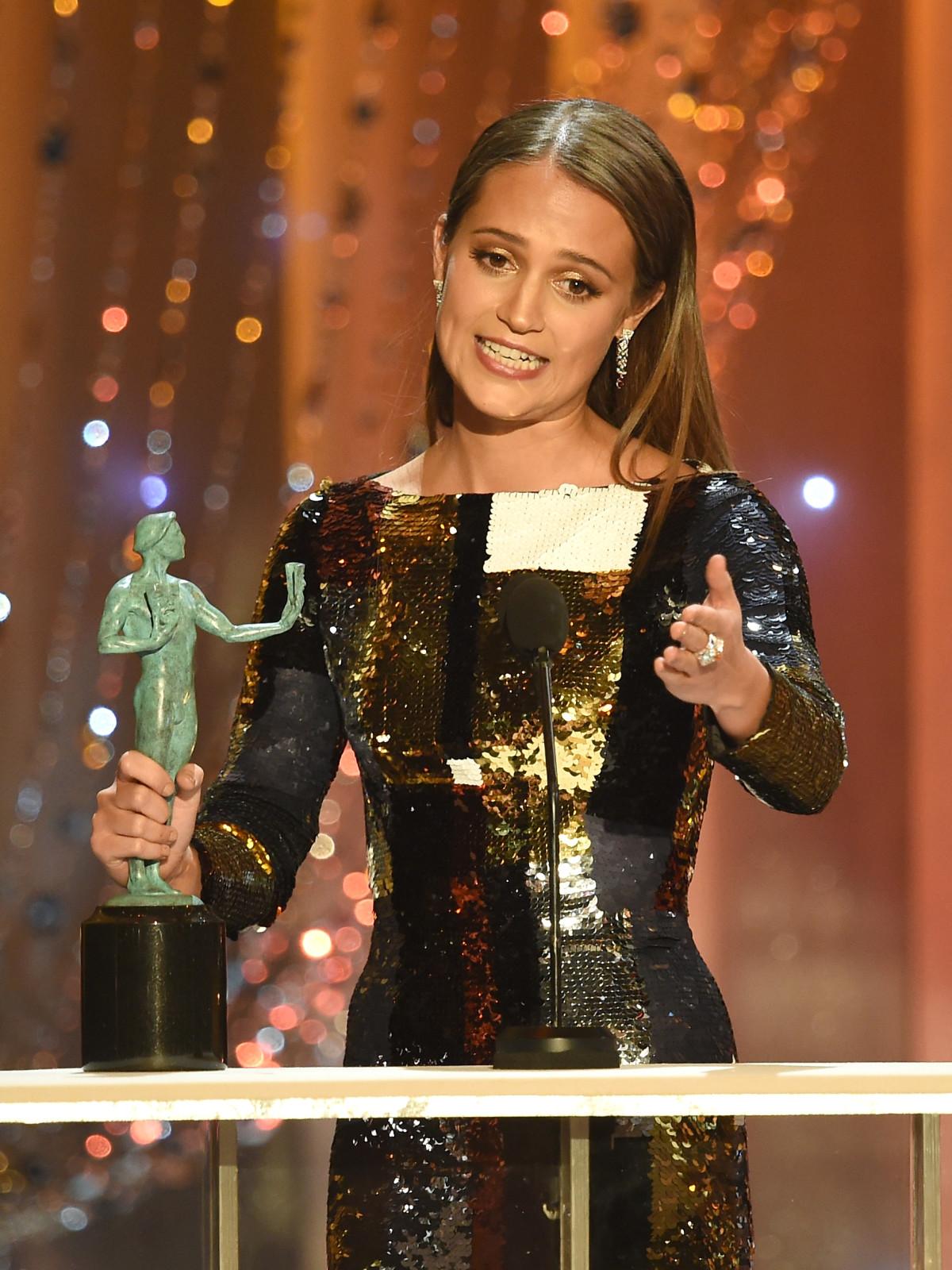 Alicia Vikander at Screen Actor Guild Awards