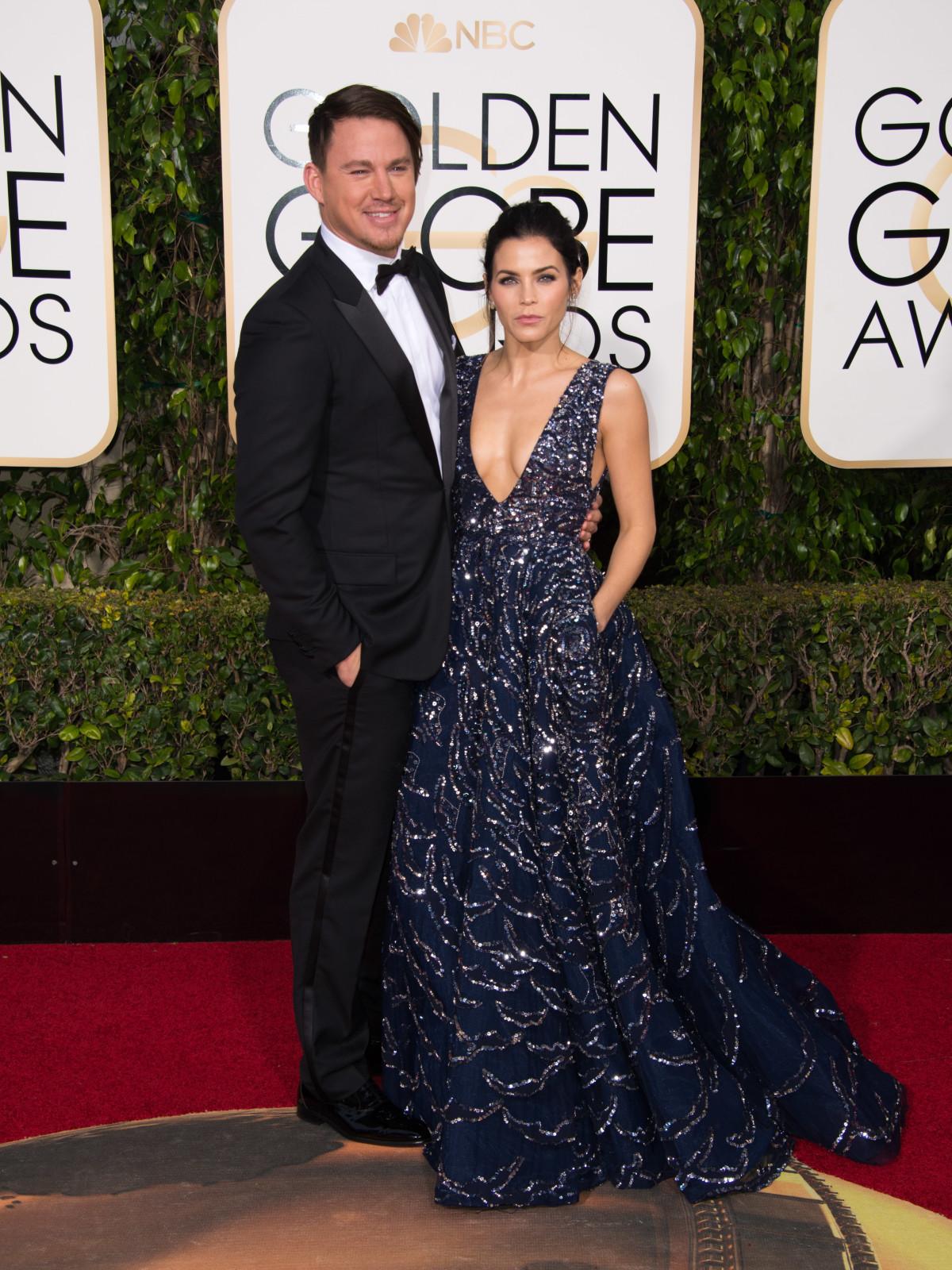 Channing Tatum and Jenna Dewan Tatum at Golden Globes
