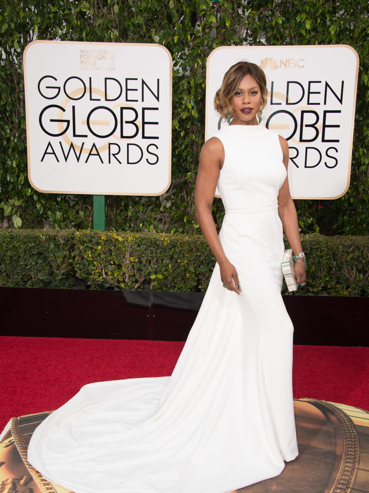 Laverne Cox at Golden Globe Awards