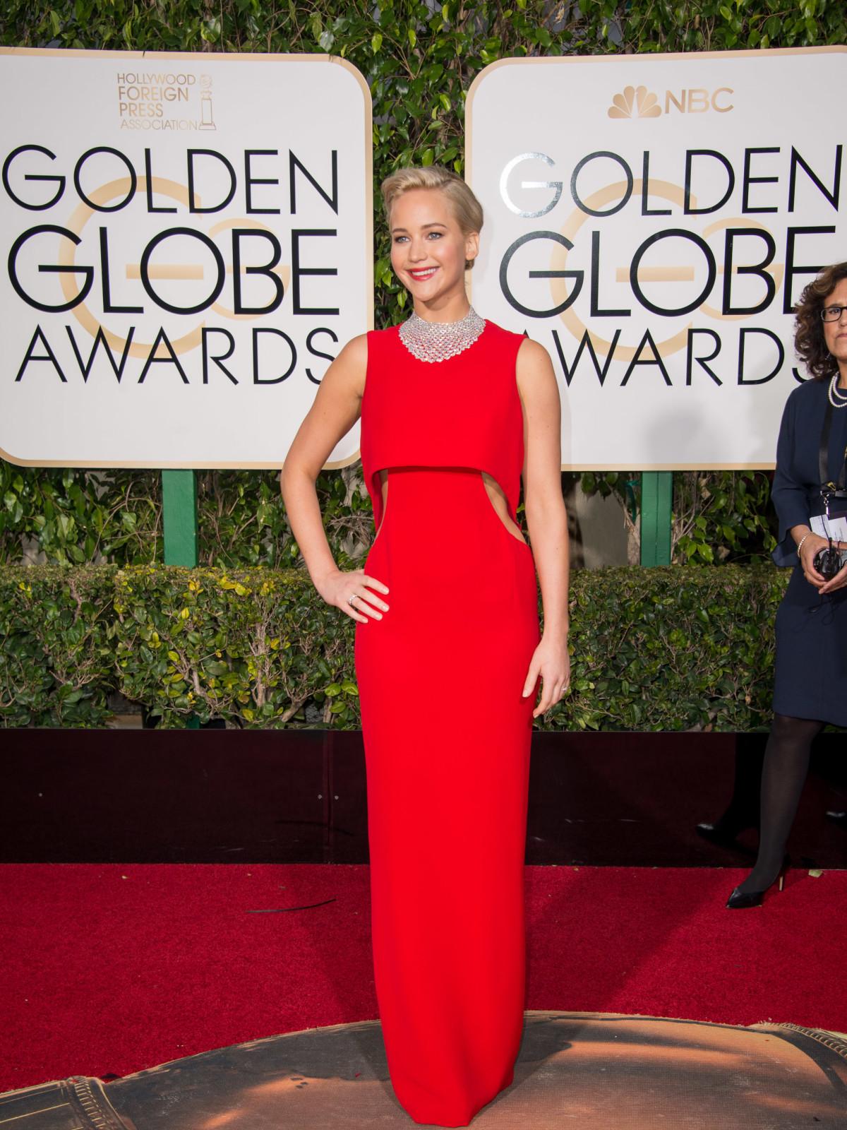 Jennifer Lawrence at Golden Globes