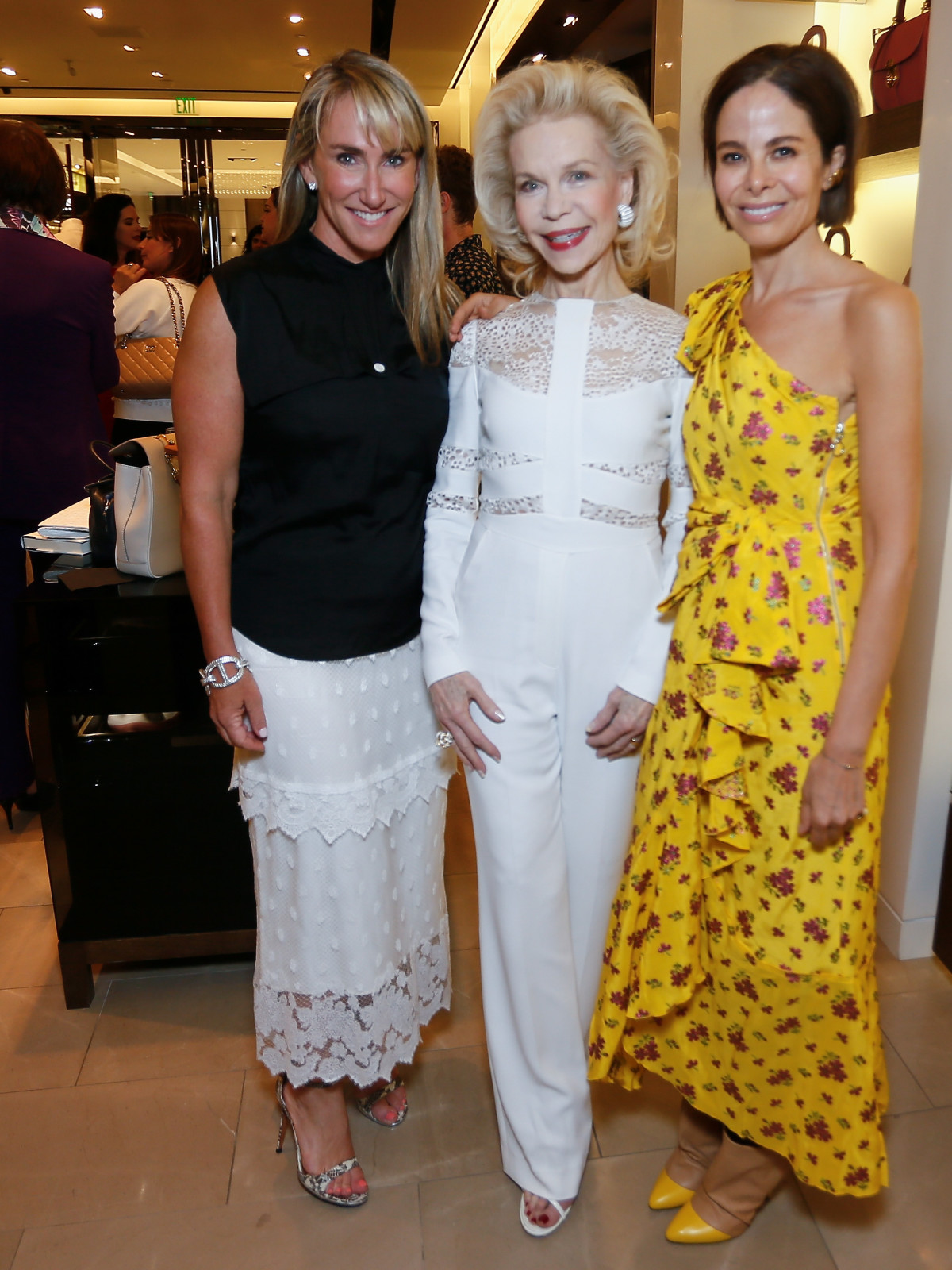 Courtney Sarofim, Lynn Wyatt, Allison Sarofim at Burberry Plum Sykes book party