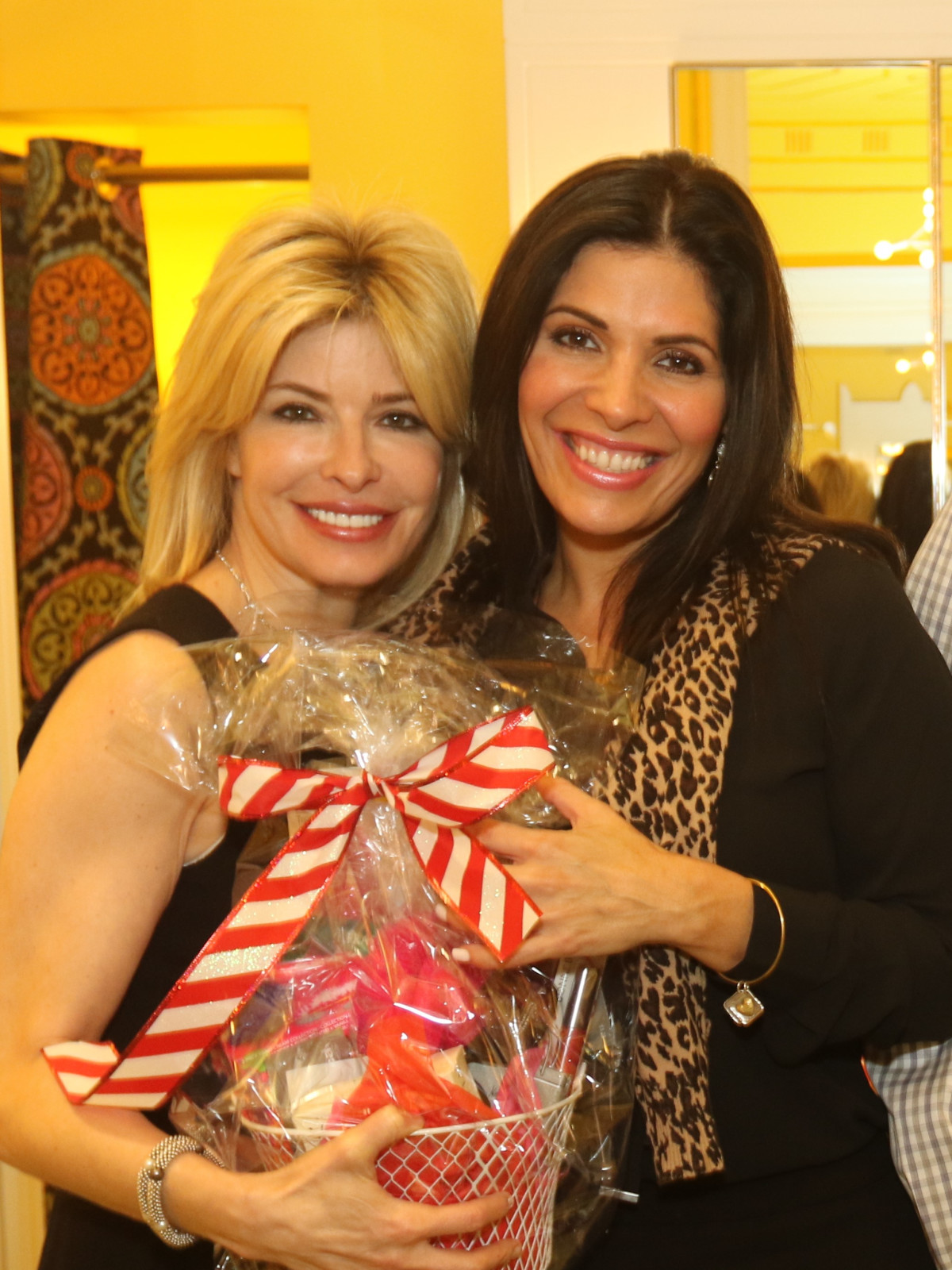 News, Ellevate Network party, Dec. 2015 Nancy Golden, Claudia Sierra