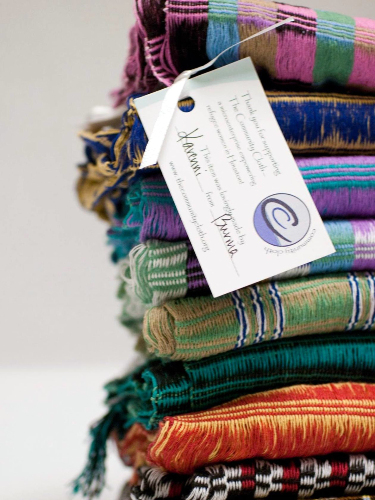 Houston, sustainable holiday gift guide, The Community Cloth, scarves