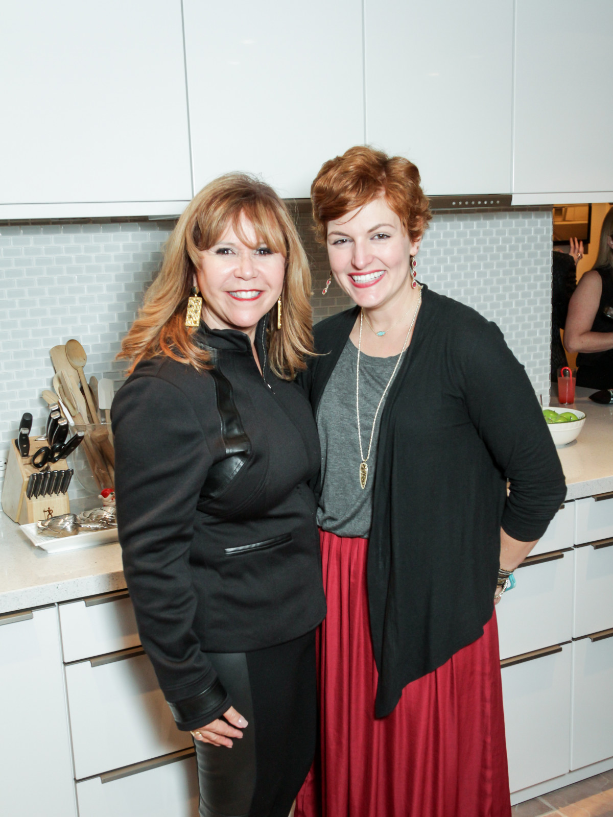 News, Legacy Holiday Schmooze, Dec. 2015, Cyndy Garza Roberts, Katie Daggett