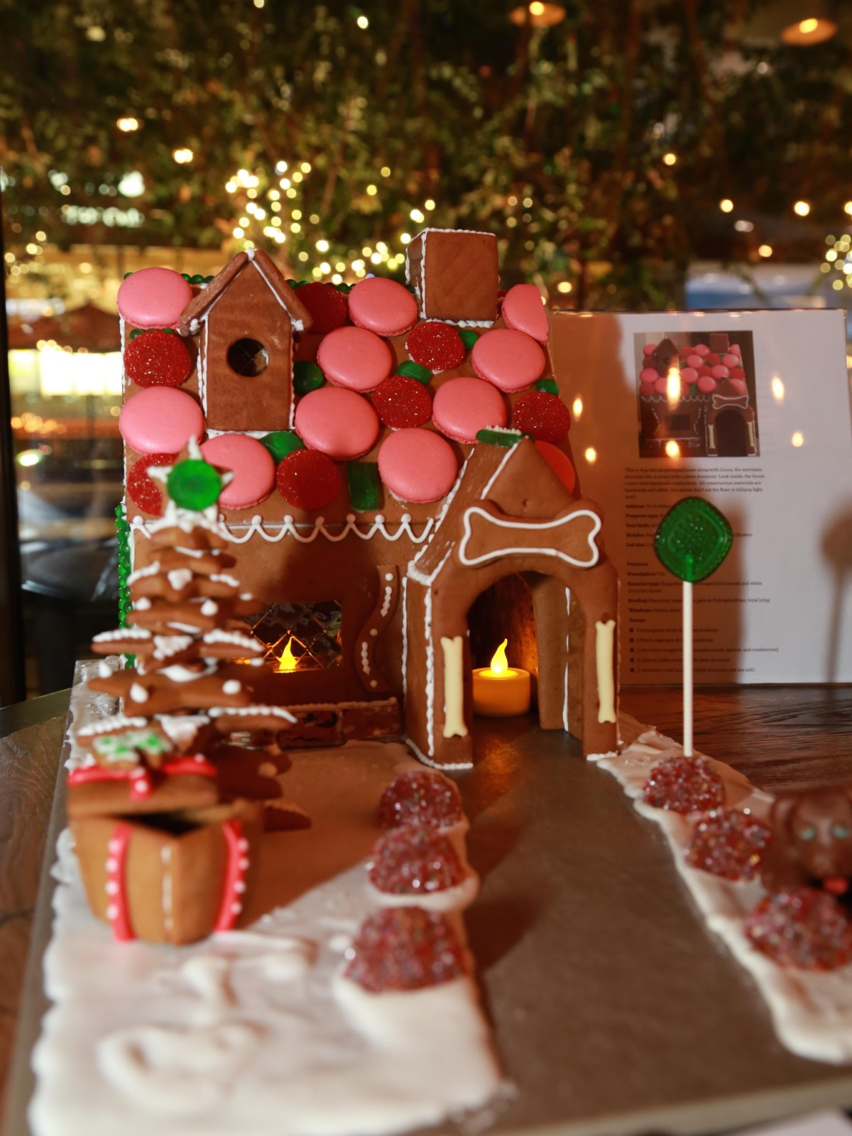 Gingerbread dog house Hubble & Hudson