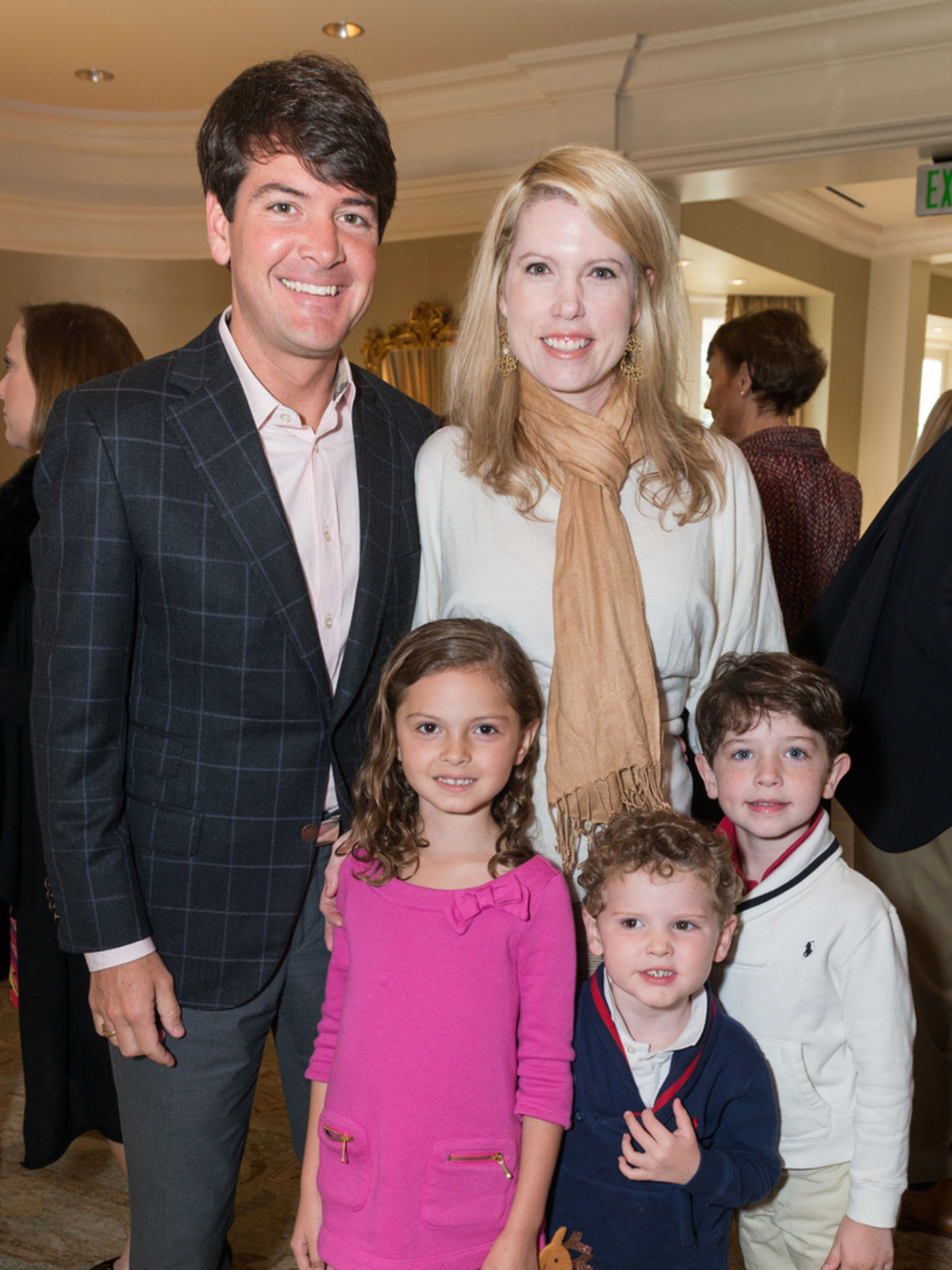News, Houston Symphony Magical Musical Morning, Dec. 2015, Bill Toomey, Courtney Toomey, Callie, Hayes and Billy Toomey.