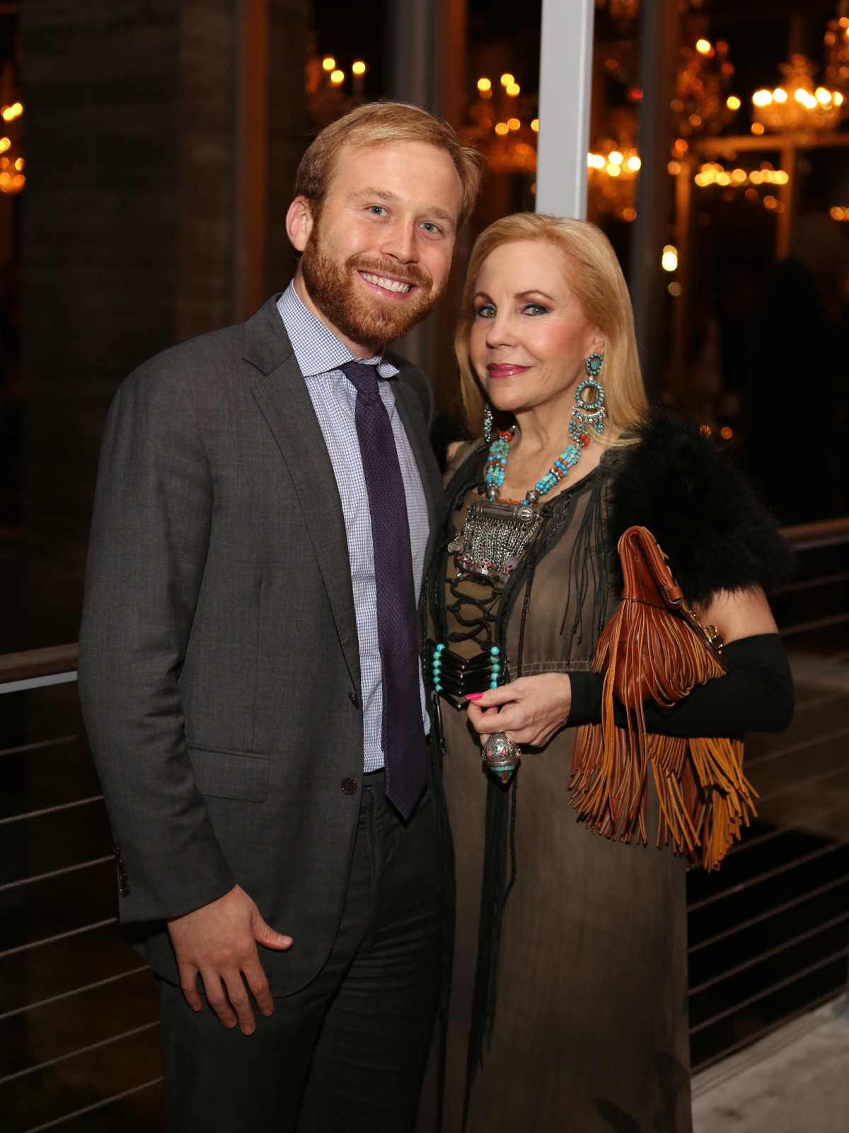 News, Equinox Opening Dinner, Dec. 2015, Pierce Bush, Carolyn Farb