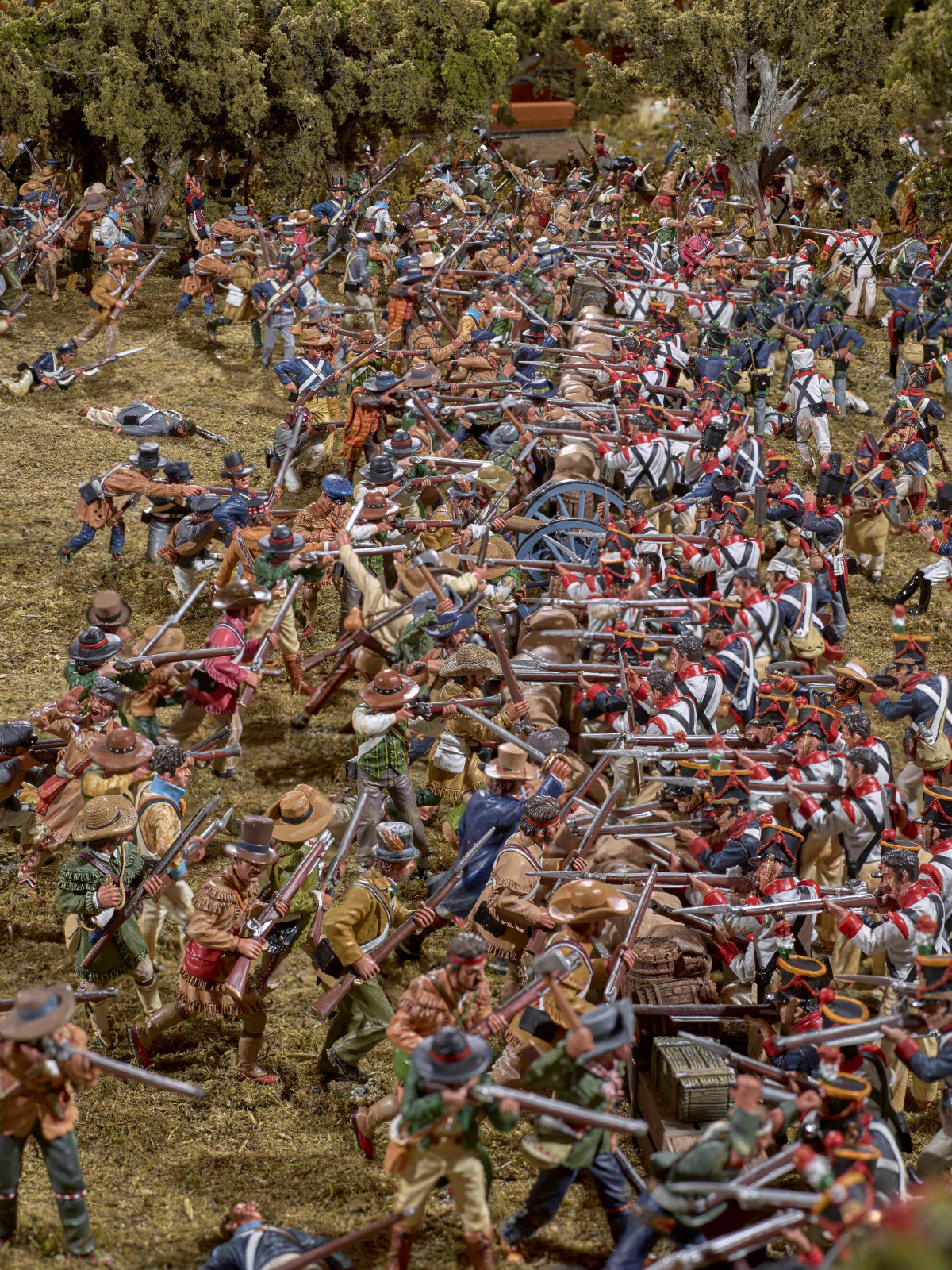 Battle of San Jacinto diorama at Bryan Museum in Galveston